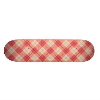 Red Plaid Skateboard Deck