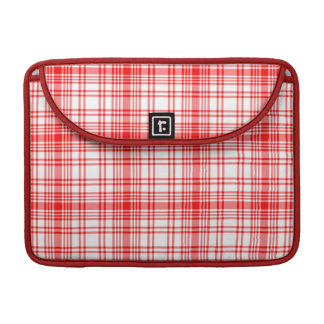 Red Plaid Sleeve For MacBooks