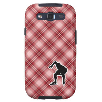 Red Plaid Speed Skater Samsung Galaxy S3 Case