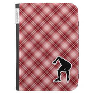Red Plaid Speed Skater Cases For The Kindle