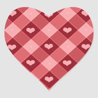 Red Plaid Stickers