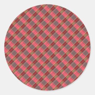red plaid sticker 2