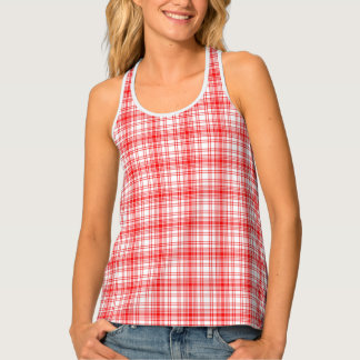 Red Plaid Tank Top