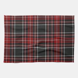 Red Plaid Tartan Towel