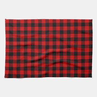 Red Plaid Tea Towel