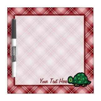 Red Plaid Turtle Dry-Erase Whiteboard