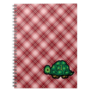 Red Plaid Turtle Spiral Note Book