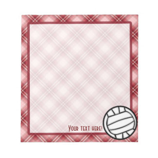 Red Plaid Volleyball Notepad