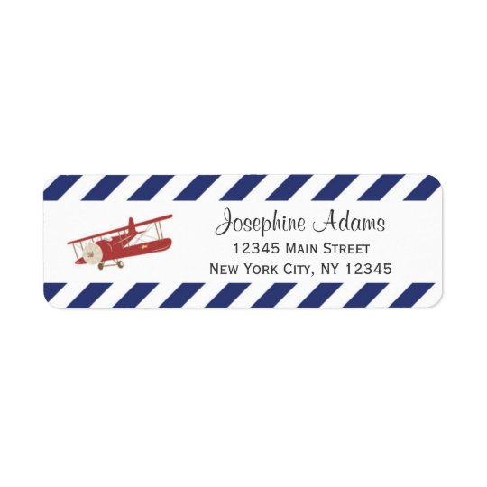 Red Plane Return Address Labels