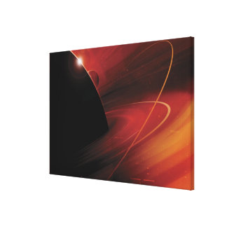 Red Planet Digital Design Canvas Print