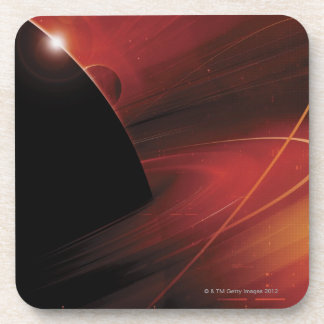 Red Planet Digital Design Drink Coasters