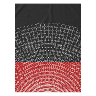 Red Planet Geometric Pattern Tablecloth