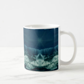 Red Planet in Blue Classic White Coffee Mug