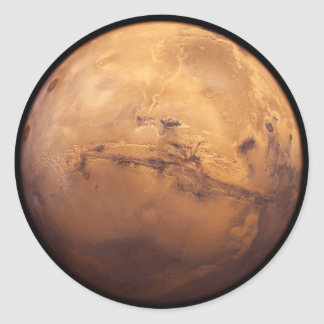 Red Planet Mars Round Sticker