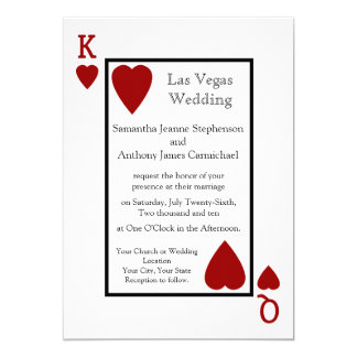 Red Playing Card Wedding Invitations