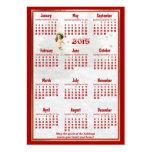 Red Poinsettia 2015 Pocket Calendar Business Card