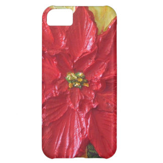Red Poinsettia Christmas iPhone 5C Cases