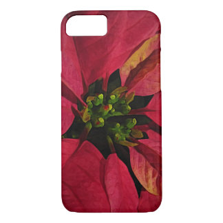 Red Poinsettia Christmas Flower iPhone 7 Case