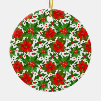 Red Poinsettia Christmas Ornament
