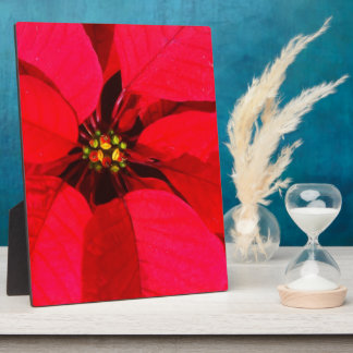 Red Poinsettia Easel Plaque