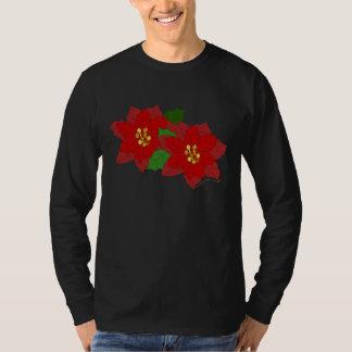 Red Poinsettia Flower Christmas Blossom T-Shirt