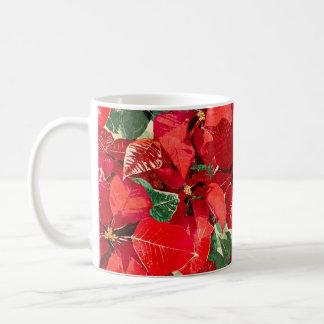 Red Poinsettia Holiday Coffee Mug
