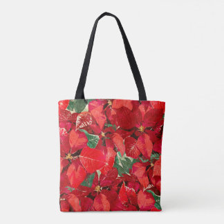 Red Poinsettia Holiday Tote Bag