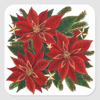 Red Poinsettia Sticker