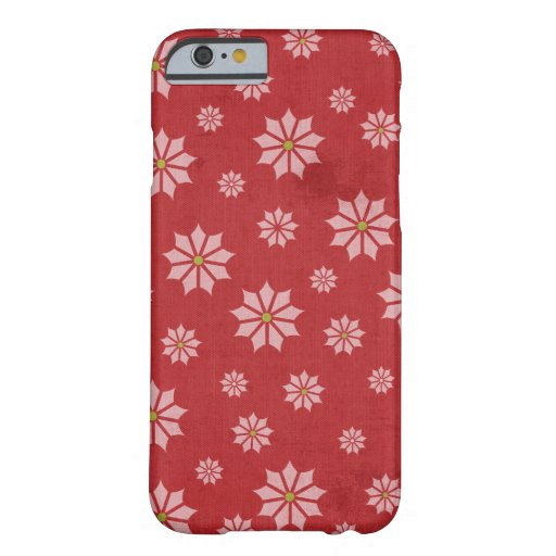 Red Poinsettia Winter Christmas Holiday iPhone 6 Case