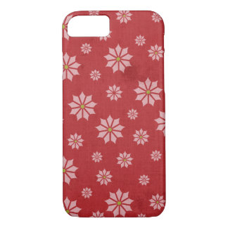 Red Poinsettia Winter Christmas Holiday iPhone 7 Case