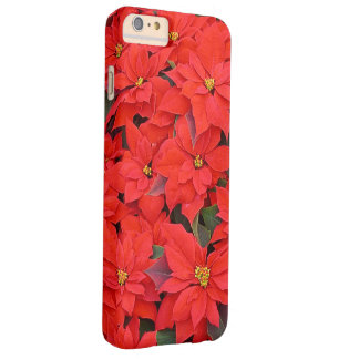 Red Poinsettias I Christmas Holiday Floral Barely There iPhone 6 Plus Case