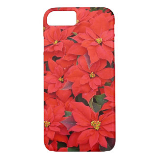 Red Poinsettias I Christmas Holiday Floral iPhone 7 Case