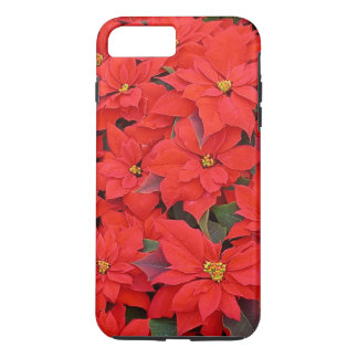 Red Poinsettias I Christmas Holiday Floral Photo iPhone 7 Plus Case