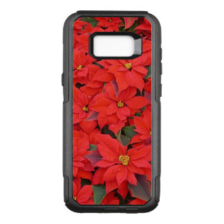 Red Poinsettias I Christmas Holiday Floral Photo OtterBox Commuter Samsung Galaxy S8+ Case