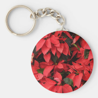 Red Poinsettias Keychain