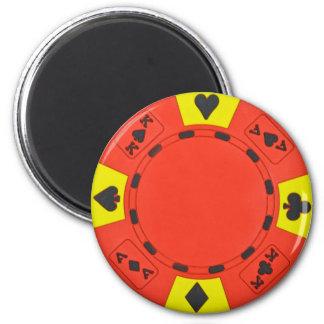 Red Poker Chip 6 Cm Round Magnet
