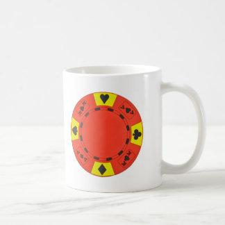 Red Poker Chip Basic White Mug