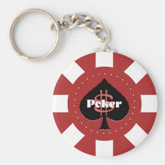 Red Poker Chip Keychain