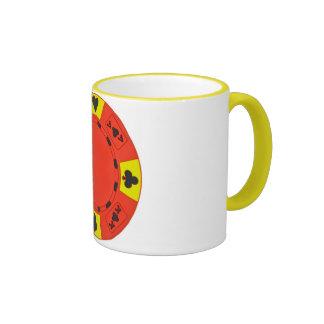 Red Poker Chip Ringer Mug