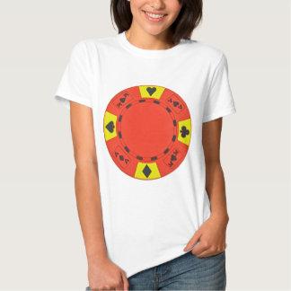 Red Poker Chip Tshirt