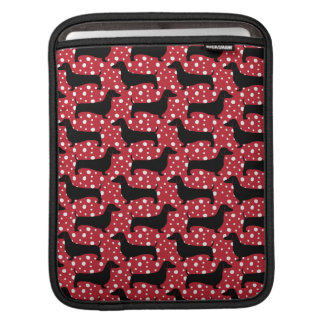 Red Polka Dachshunds iPad Sleeve