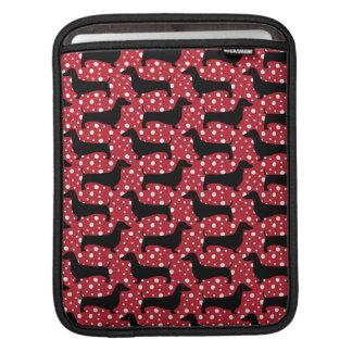 Red Polka Dachshunds iPad Sleeve