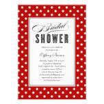Red Polka Dot Bridal Shower Invitations