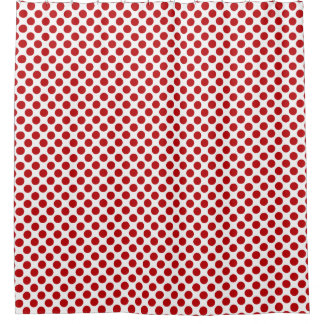 Red Polka Dot Design - Shower Curtain