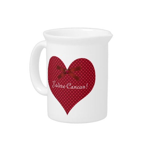 Red Polka Dot Heart Pitcher