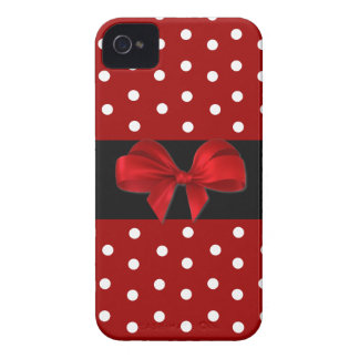 Red Polka Dot iPhone 4 Case