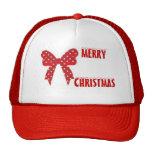 Red Polka Dot Merry Christmas Hat