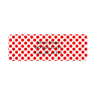 Red Polka Dot Pattern
