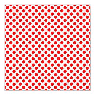 Red Polka Dot Pattern 13 Cm X 13 Cm Square Invitation Card