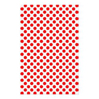 Red Polka Dot Pattern Stationery